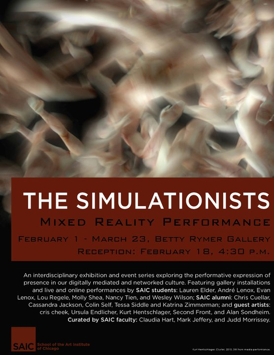 In Performance - THE SIMULATIONISTS: Mixed Reality Performance (Chicago,IL)