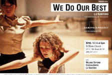 In Performance: We Do Our Best, Liz Santoro in a shared evening with Anne Zuerner (NYC)