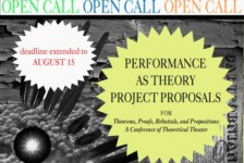 Opportunities: Open Call for Performances-as-Theories