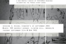 In Performance: TROPISMES, a monthly series of performed readings celebrating the French avant-garde (NYC)