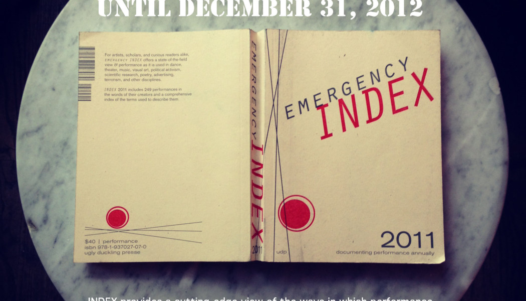 Opportunities: Document Your 2012 Performances in Emergency Index