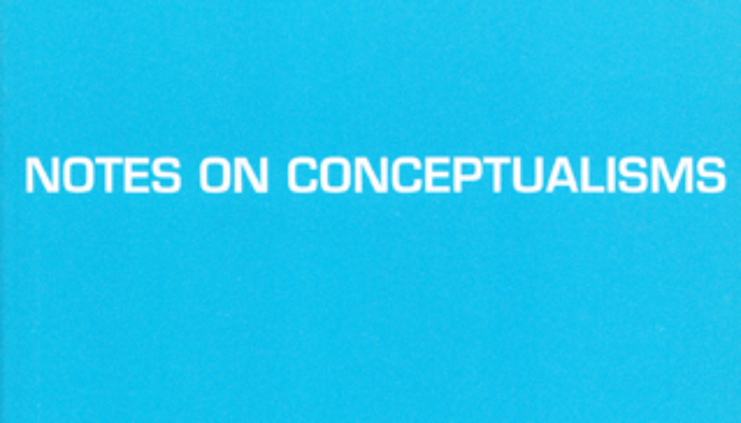 Books: Notes on Conceptualisms by Robert Fitterman and Vanessa Place