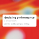 Books: Devising Performance: A Critical History