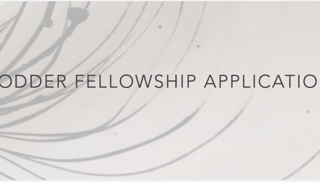 Opportunities: The Hodder Fellowship ($80,000 Stipend)