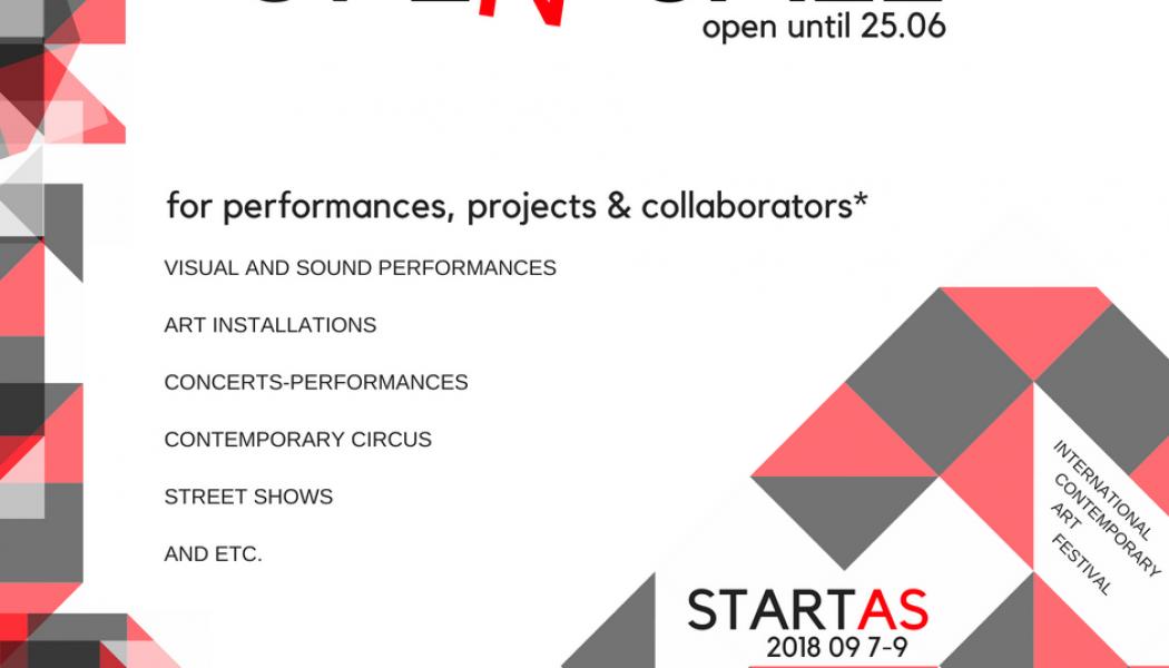 Opportunities: OPEN CALL for Int. Contemporary Art Festivals STARTAS (Rokiskis, Lithuania) Deadline – 25 June 2018