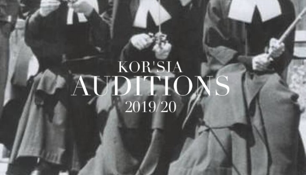 Opportunities: KOR'SIA  AUDITIONS (Madrid) Deadline – 1th  OCTOBER 2019