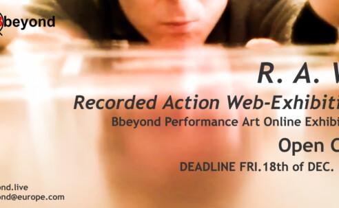 Opportunities: R.A.W. (Online) Deadline – December 18th 2020